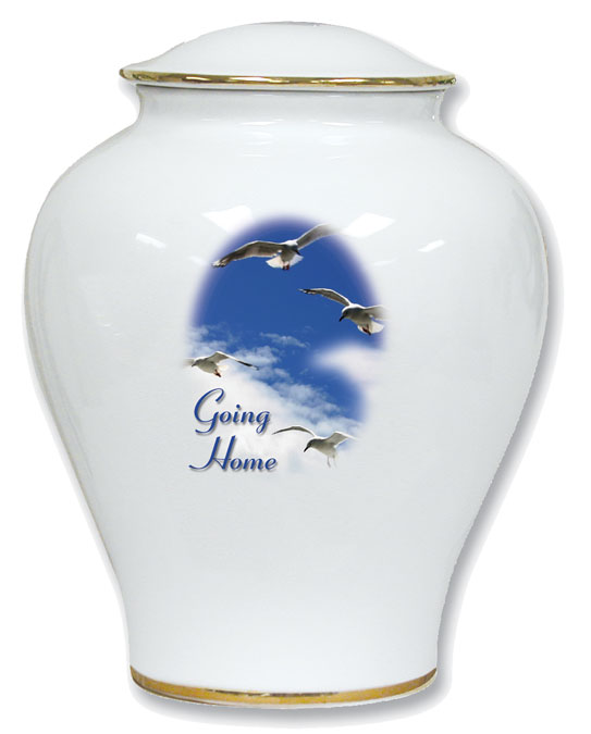 Going Home Porcelain Urn 30-C-310