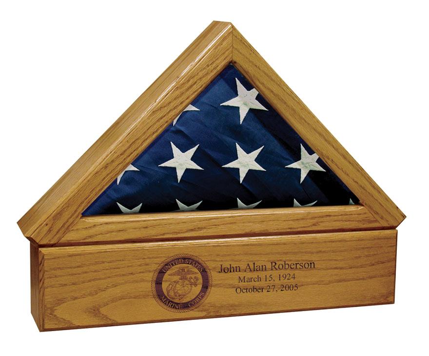 Premium Flag Case Urn Pedestal 30-K-100