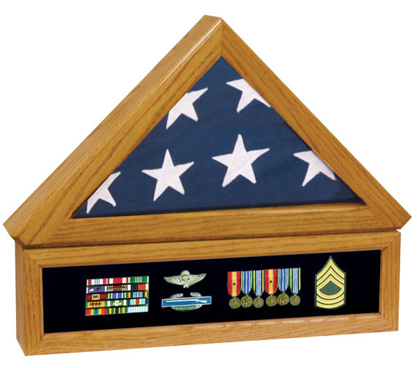 Premium Flag Case with Medal Display #92-013