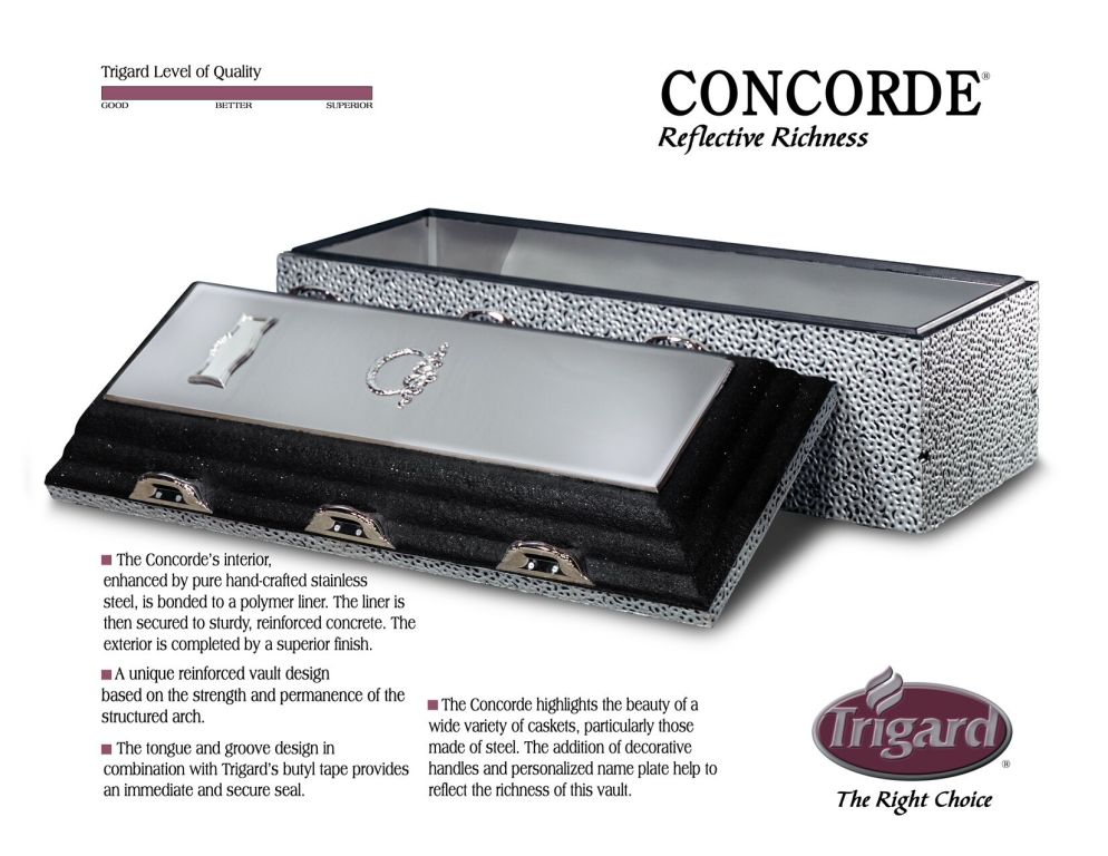 Trigard Concord Stainless Steel $2,595