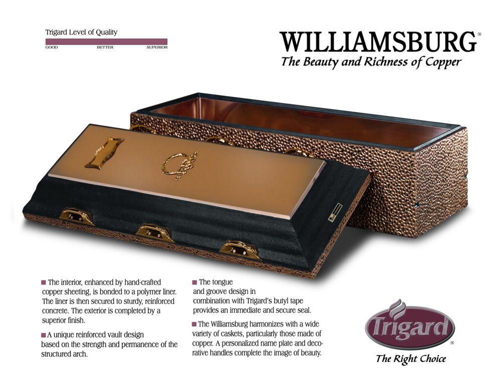 Trigard Williamsburg Copper  $3,095
