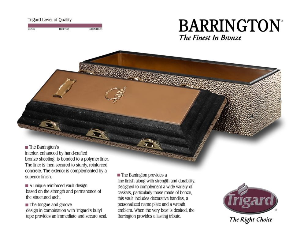 Trigard Barrington Bronze  $3,595