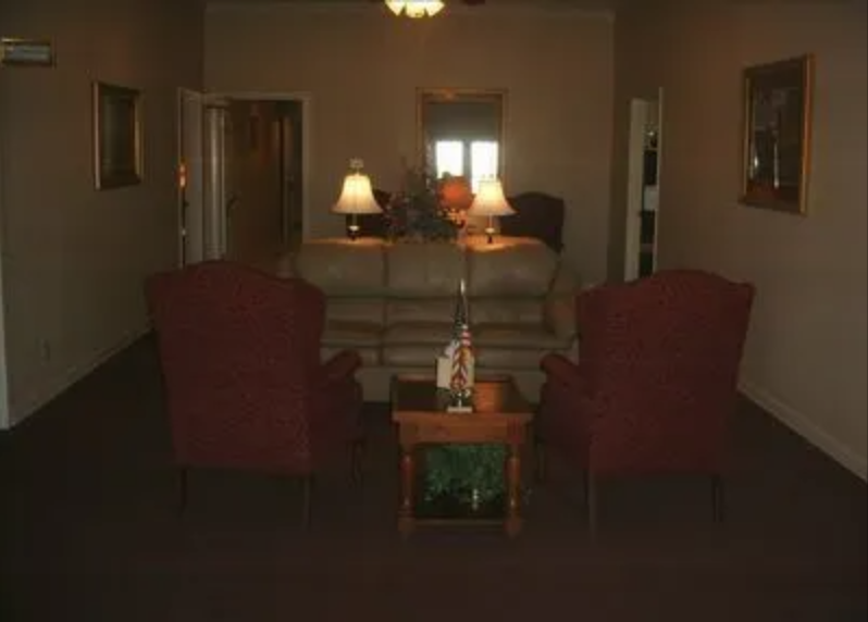 Lobby of the Funeral Home