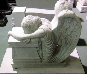 Scuplted Gray lifesize angel