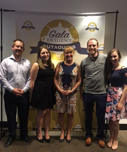2019 Gala D'Excellence Gatineau, Pascal Renaud, Stephanie Joly-Paquette, Teri Boda, Trevor Smith and Destiny