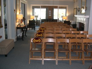 New furnishing in the chapel