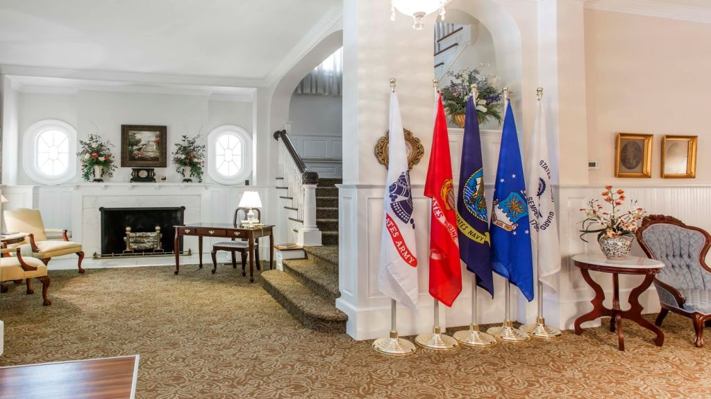 Lobby area at Thompson-Strickland-Waters Funeral Home