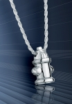 Sterling Silver Dog Fire Hydrant Pendant