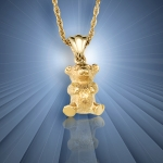 Gold Teddy Bear Pendant