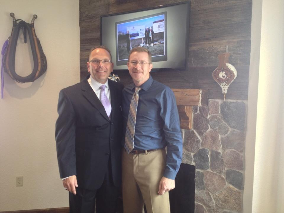 High School classmate and fellow Funeral Director at Grand Opening of our Funeral Home...thank you Joe!