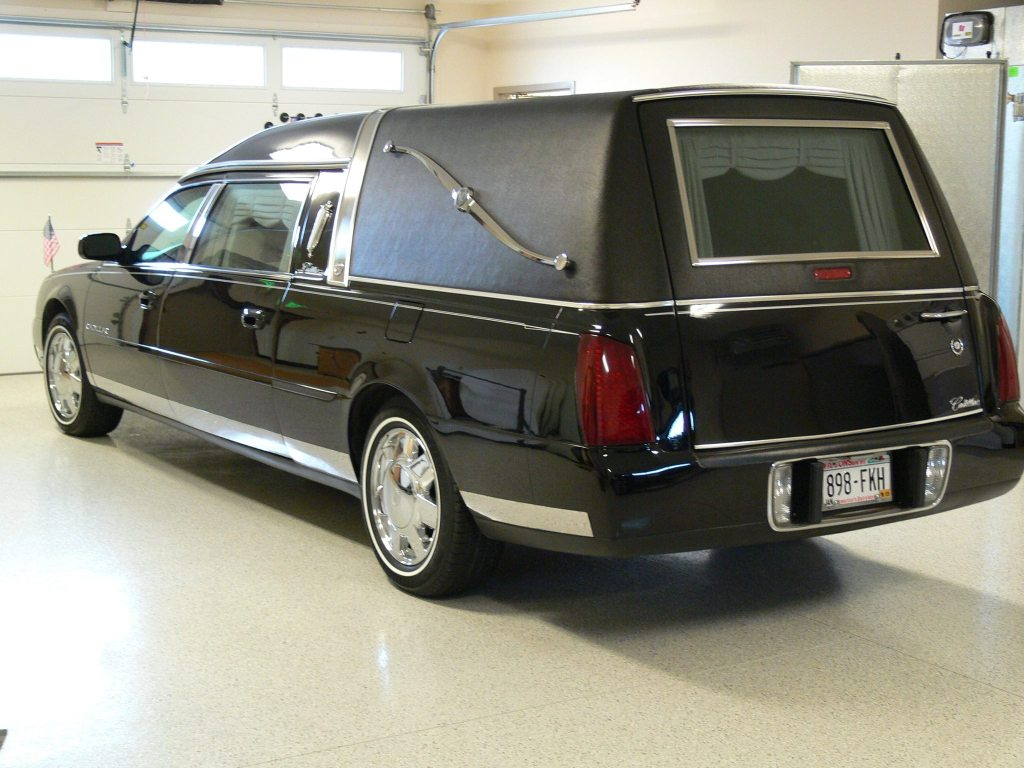 hearse parked in the garage at the Open House