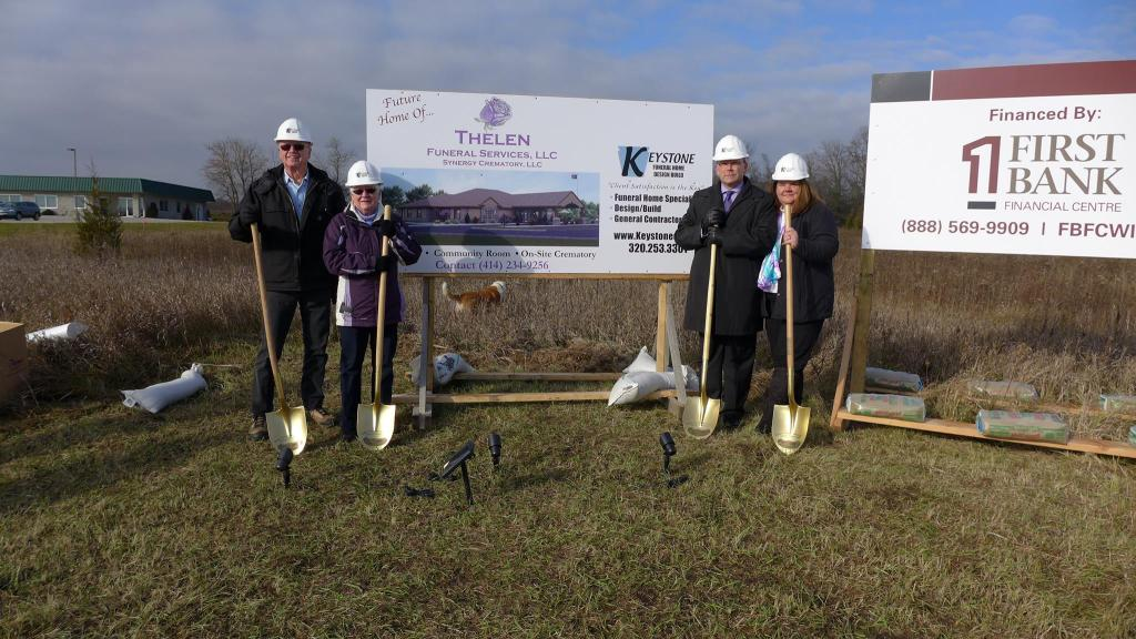 Official Ground Breaking Ceremony (Alvin and Susan Burgemeister, Kris' parents with Kris and Timothy Thelen)