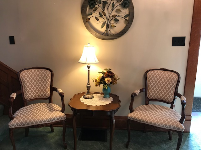 Seating Area in Front Entryway