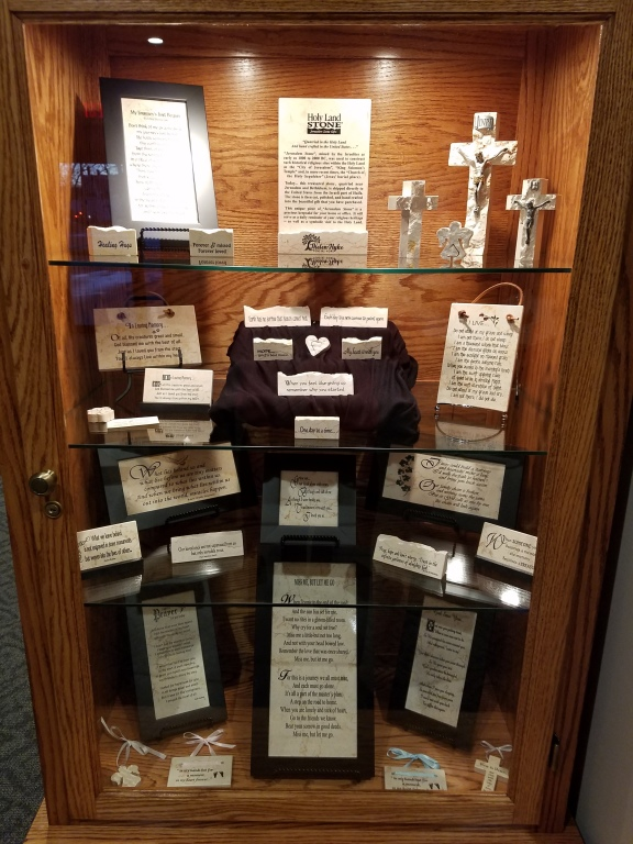 Holy Land Stone bereavement items are available for purchase.