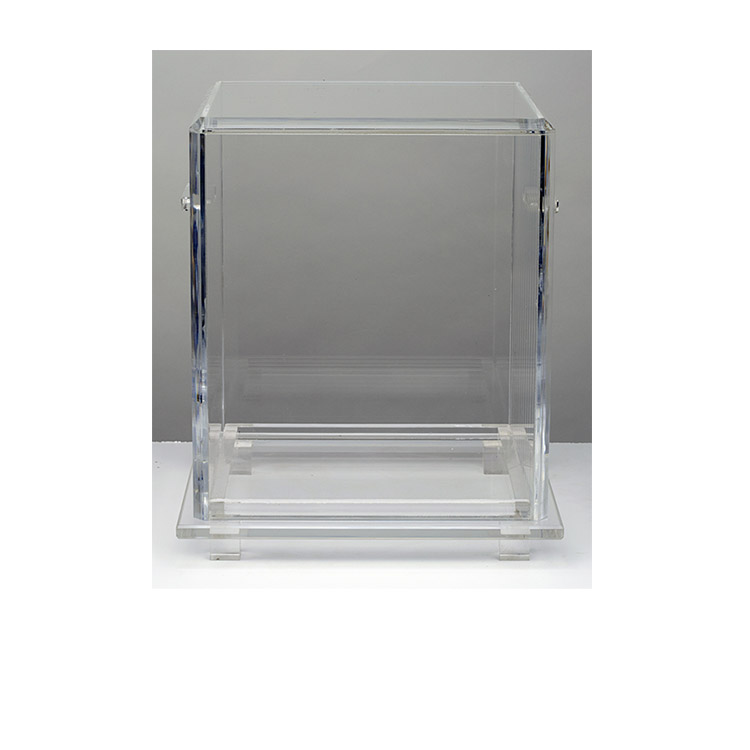 The Clear Urn Vault (without an urn) may be used for burial or home display. $425.00 without engraving or tax.  We have one in stock but engraving would need to be pre-ordered.