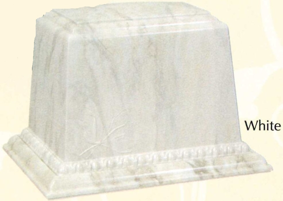 The Millennium Urn Vault - in white.  $255 plus tax.  We keep these in stock.