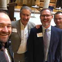 Brian and Ryan with fellow Indiana Funeral Directors Wally Hooker and Tom Sproles