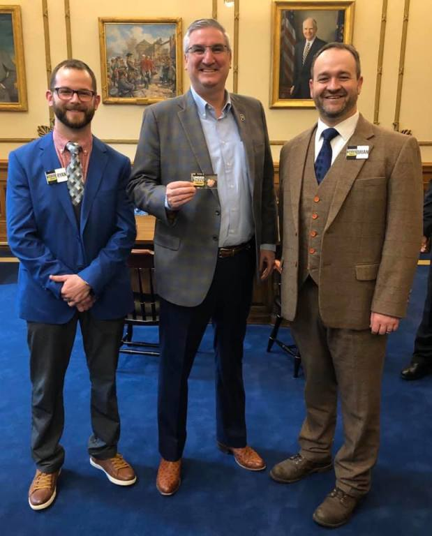 Brian and Ryan with  Indiana Governor Eric Holcomb