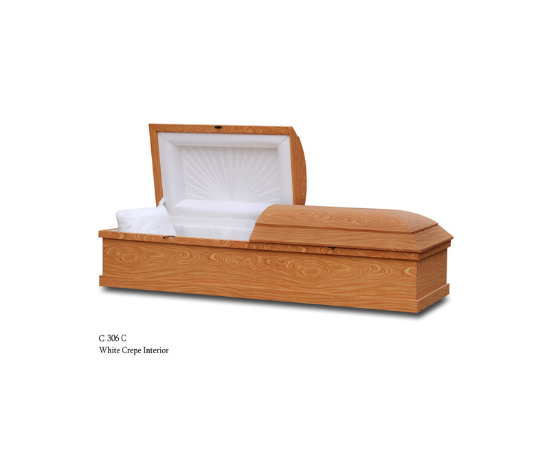 Oak Color Cremation Casket