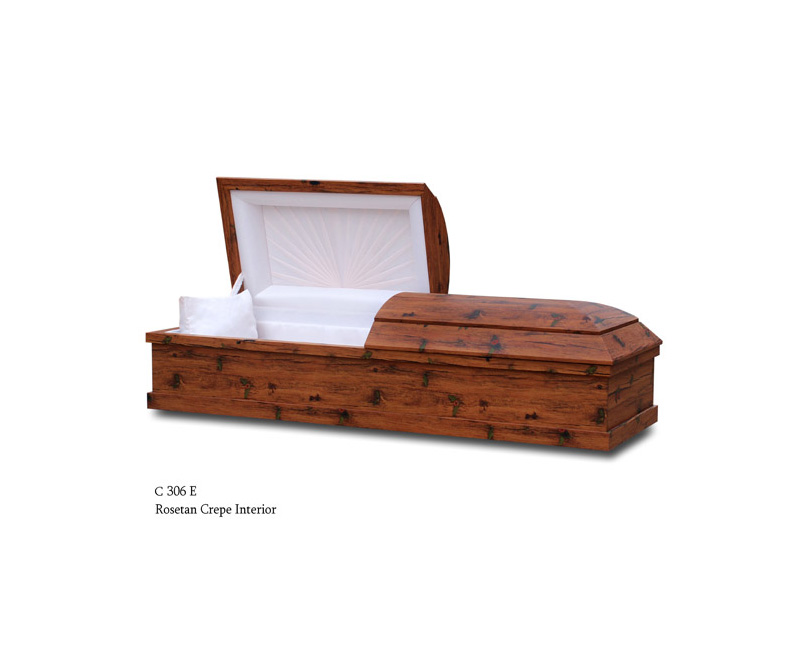 Cherry Color Cremation Casket