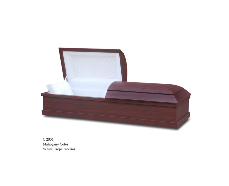 Mahogany Color Cremation Casket