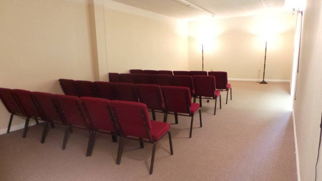 Our gathering room at Vilonia Funeral Home. This room can be used for a private family viewing, a public visitation, or a funeral ceremony. We can also rearrange for multi-purpose.