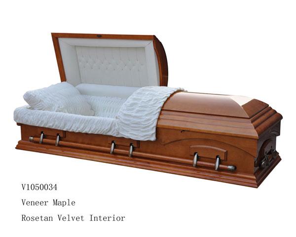 Wood Veneer Casket