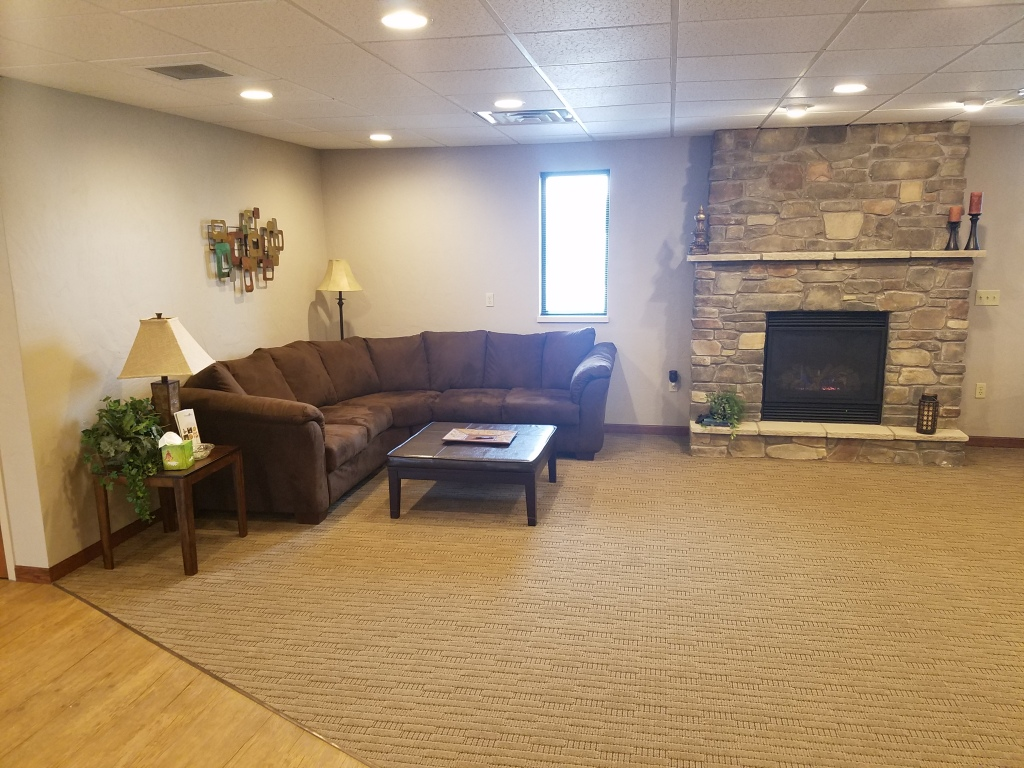 Freedom Sitting Area by Fireplace