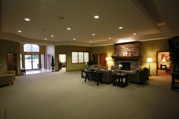 An interior view of the entrance area