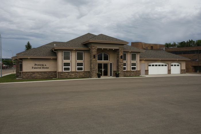 Exterior view of the Ponoka Funeral Home