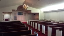 Beautiful traditional chapel seating capacity up to 250 guests with private family room.