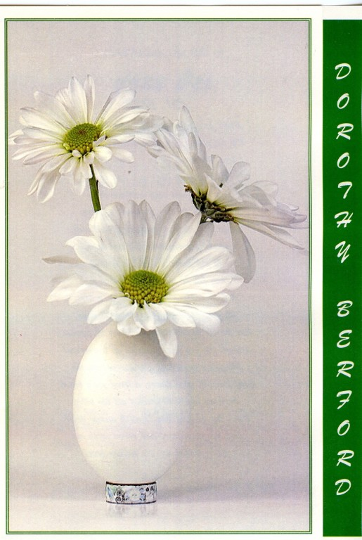 Daisies White Vase