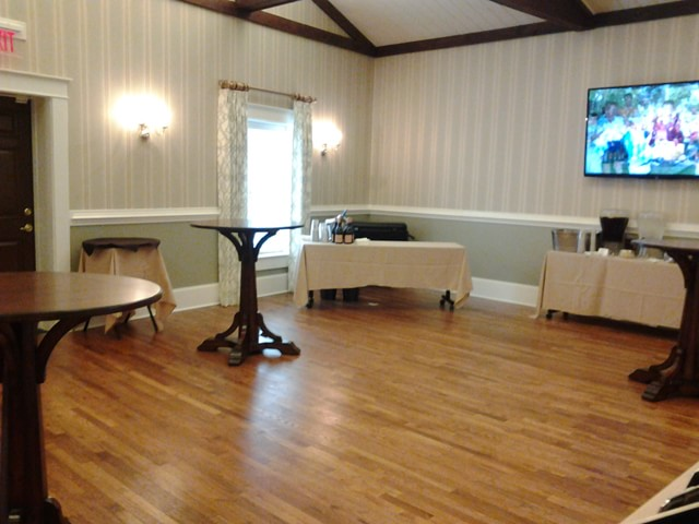 The James Room Reception Setup