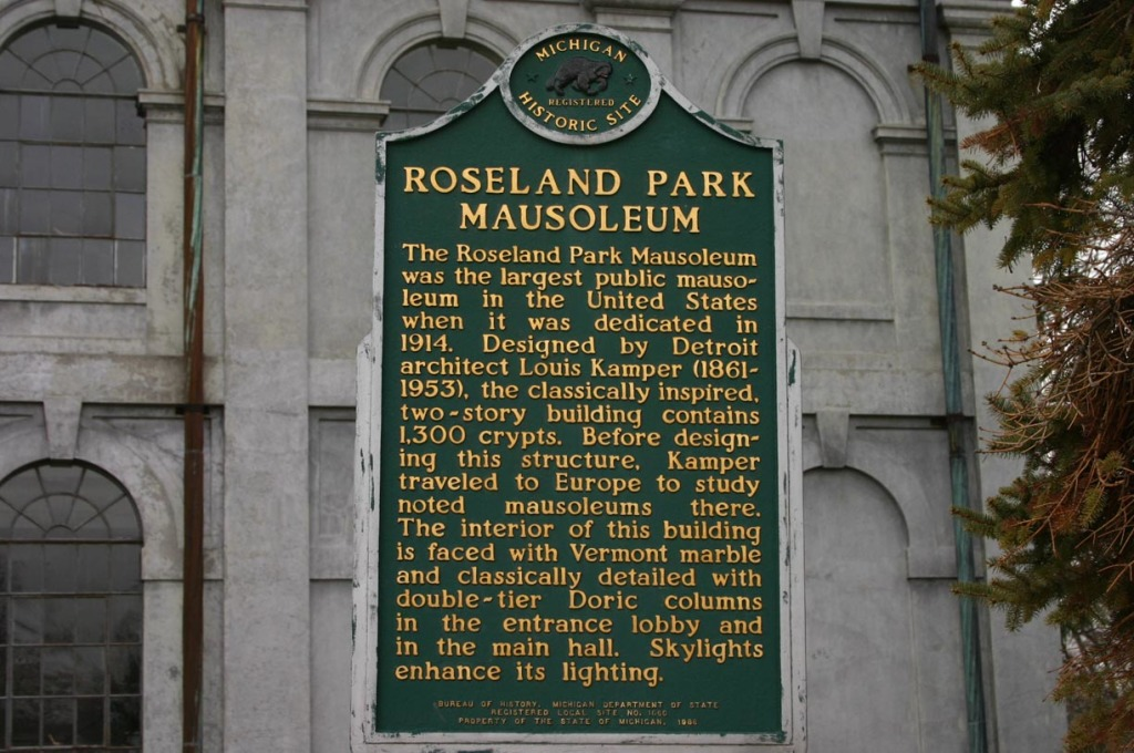 Historical Sign at Rose Chapel