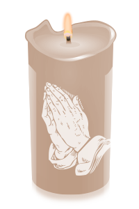 candle prayinghands