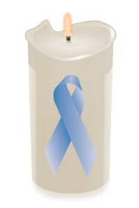 candle ribbon ltblue