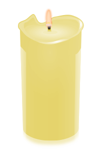 candle yellow