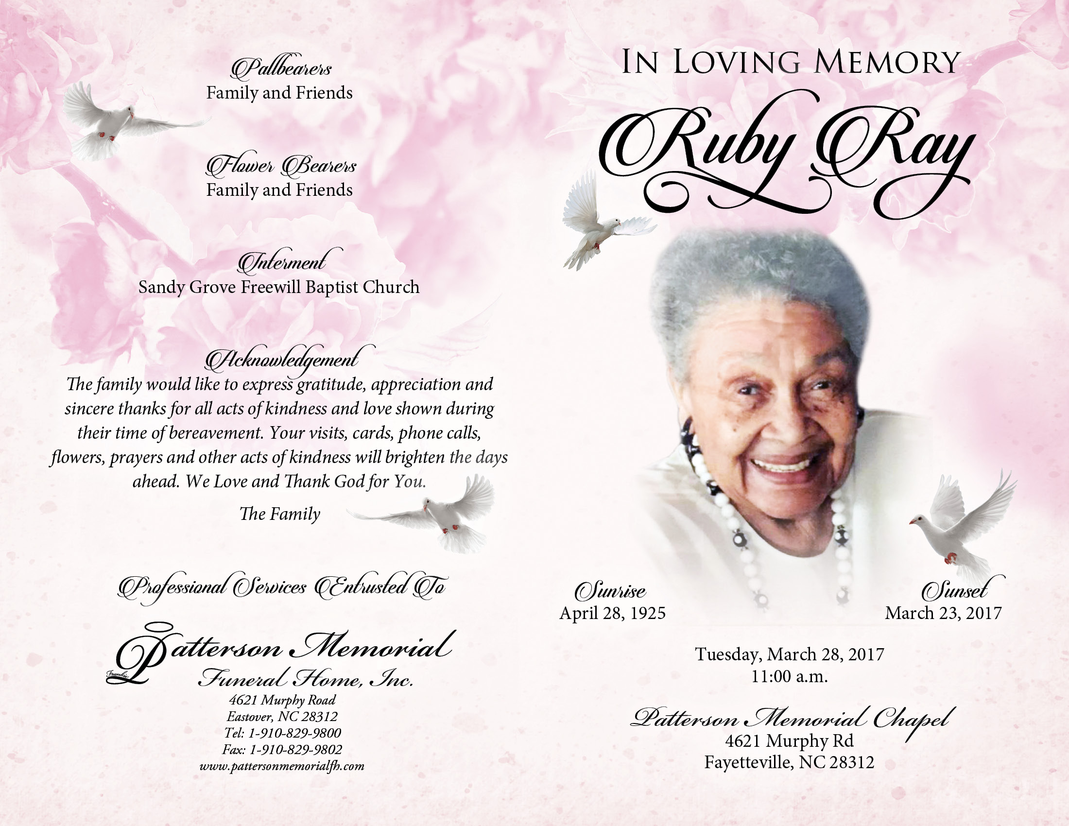 Obituary For Ruby Estelle Ray