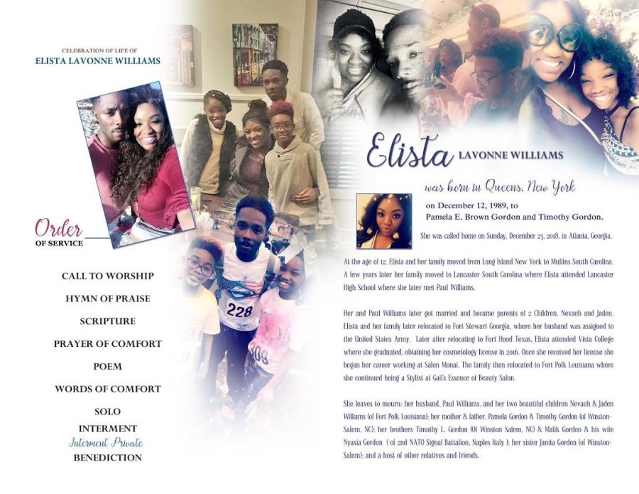 Obituary for Elista Williams (Send flowers) | Wayne Russell Funeral