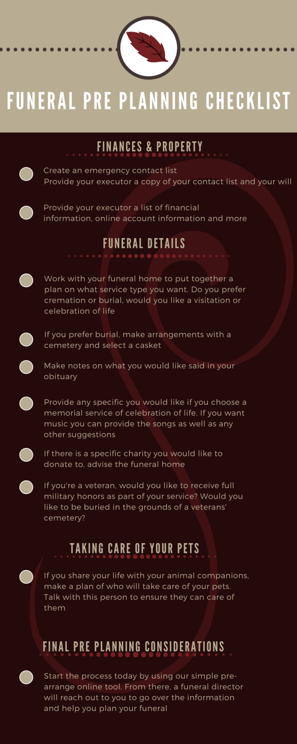 funeral pre planning checklist boulevard funeral home and