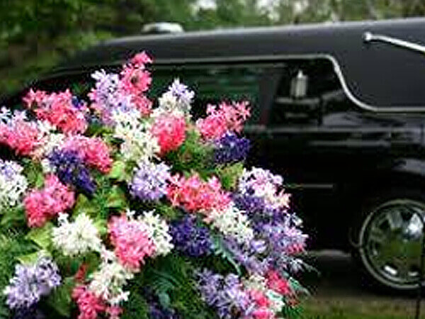 Hearse at a Cemetery