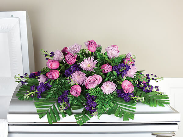 Funeral Home and Cremations Kilgore TX Our Services 000012 Cfsv2 D07 Casketsprayhalfpurple