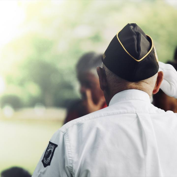A veteran saluting - The Added Veterans Benefit of Preplanning With French
