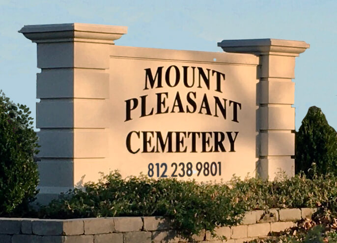 mount pleasant cemetery sign