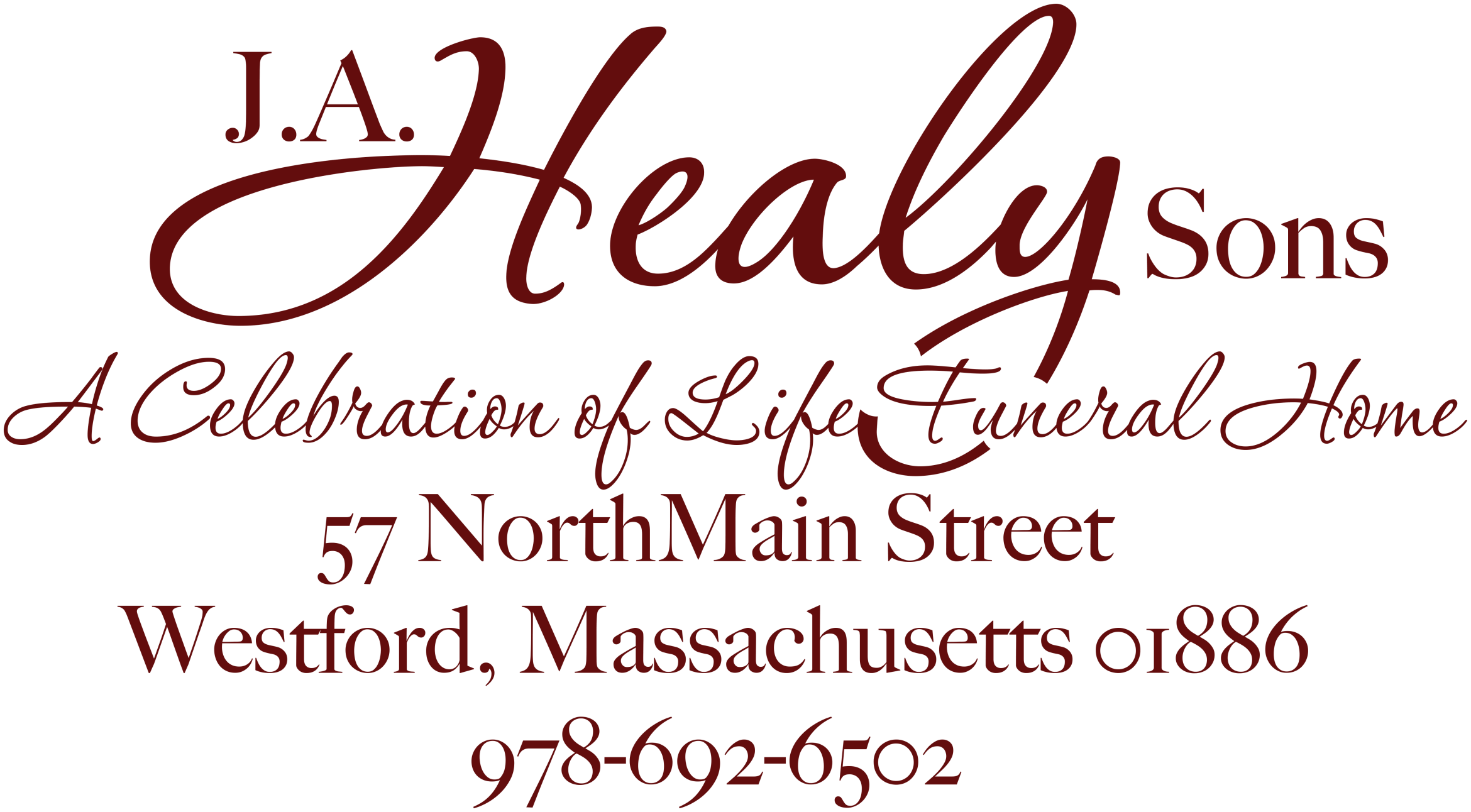 All Obituaries | J  A  Healy Sons Funeral Home | Westford MA