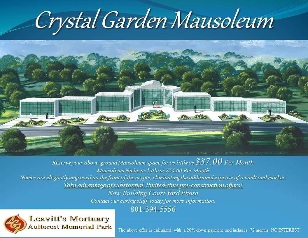 Crystal Garden Mausoleum In Ogden, Utah