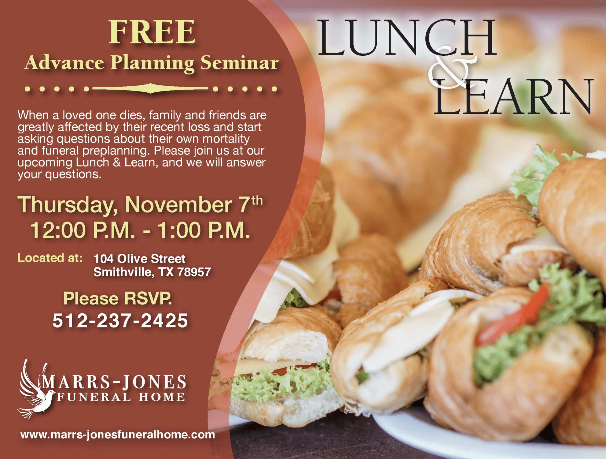 Lunch And Learn 2019 Marrs Jones Funeral Home Smithville