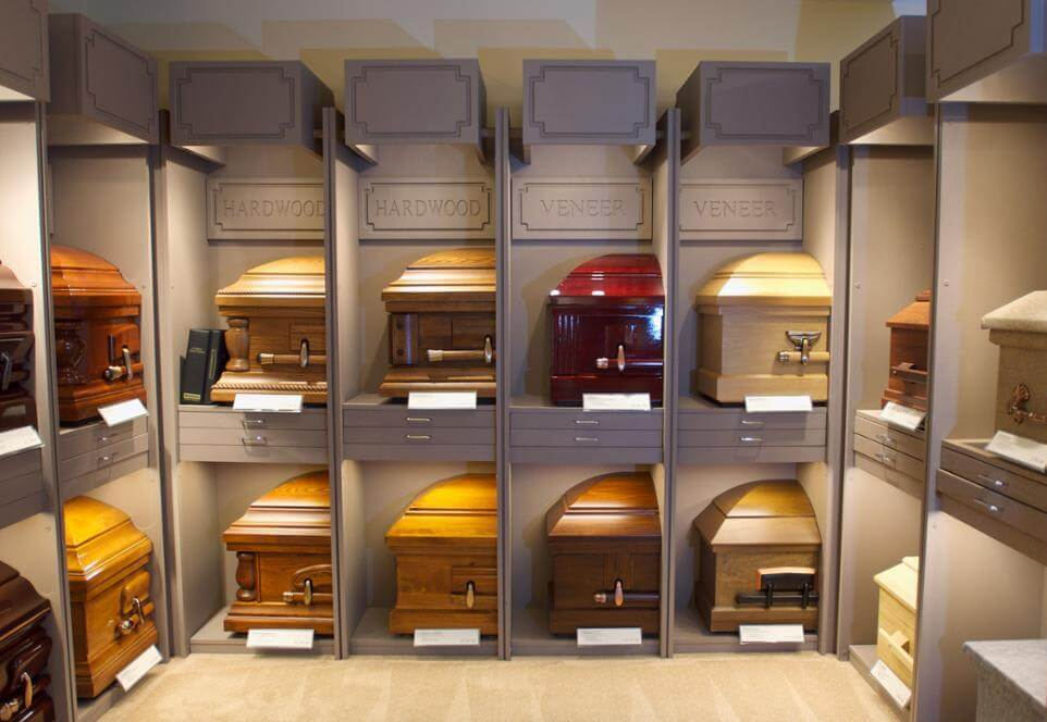 Selection Room CasketWall Naugle Funeral and Cremation Service