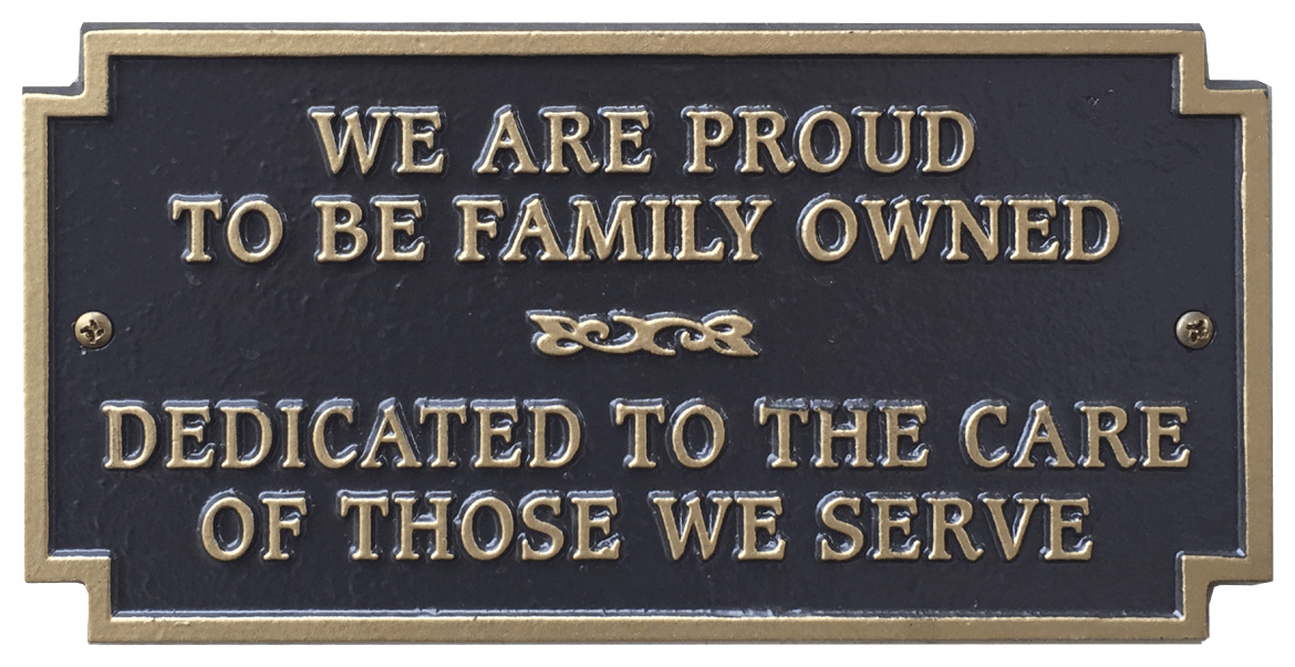 Family Owned Sign