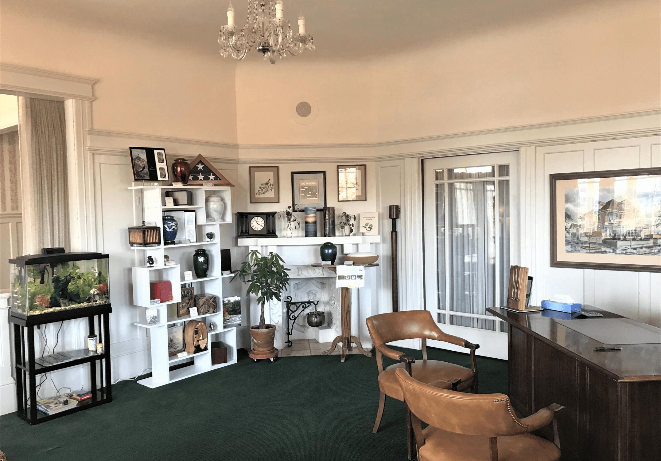Inside of Sanders Funeral Home